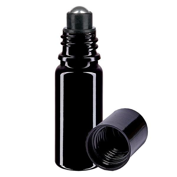 Glas deostick fles violet 10ml, lege deo roller (Roll On)
