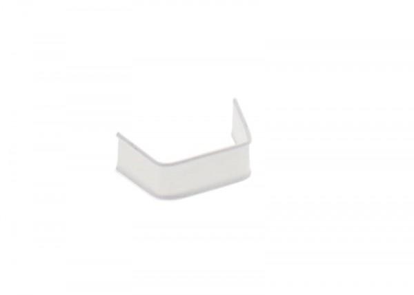 100 x U-Clip van papier, lengte 40, wit