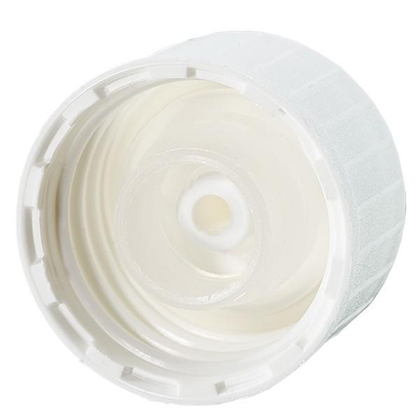 Schroefsluiting DIN 22 wit met uitgietring