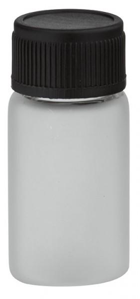 Minifles 3 ml mat met zwarte schroefsluiting incl. afdichting