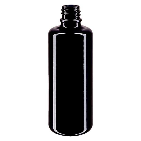 Violetglas fles 100ml DIN 18 (Mironglas)