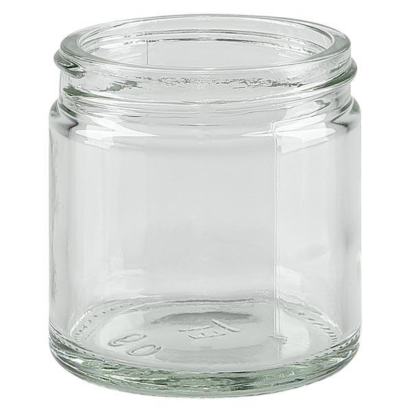 Glazen pot 60ml helder glas 51mm/R3, zonder sluiting