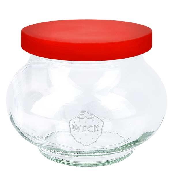 WECK-sierglas 220ml met rood siliconenhoes