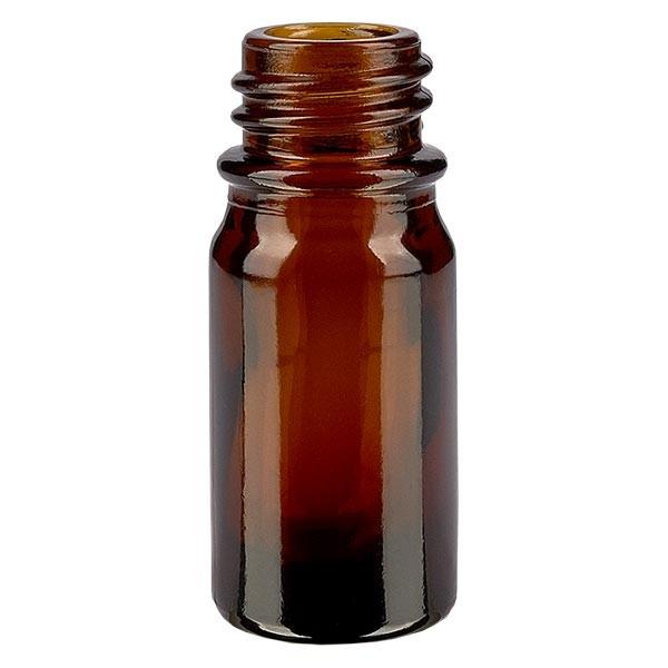 Bruine glazen fles 5ml