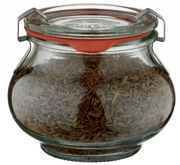Idee voor een glazen kruidenpotje: WECK-sierglas 220ml