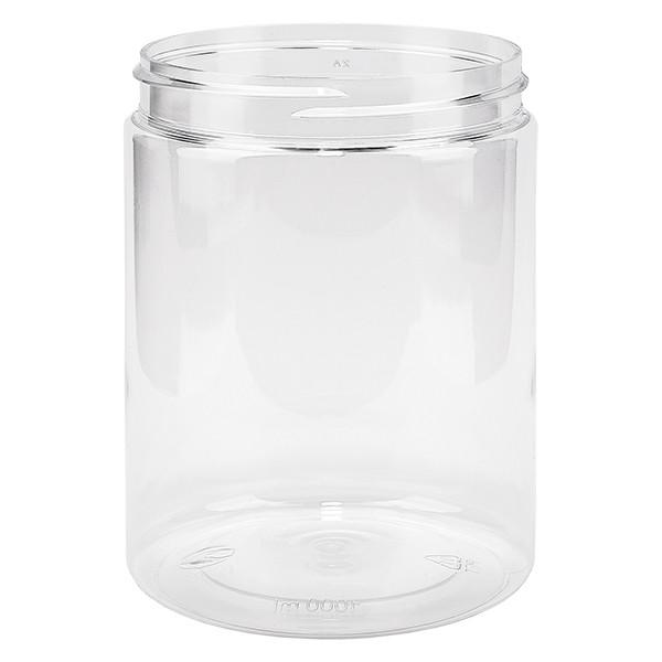 PET pot met schroefdeksel 1000 ml helder schroefdraad 100 mm
