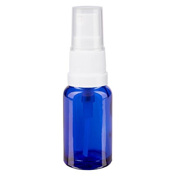 Blauwe glazen flessen 10ml met wit pompverstuiver