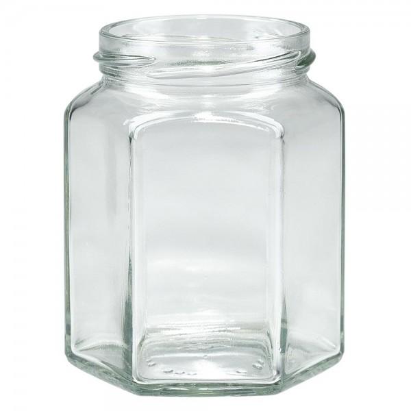 Twist-Off glazen potten lossen onderdelen 288ml 6-hoekglas