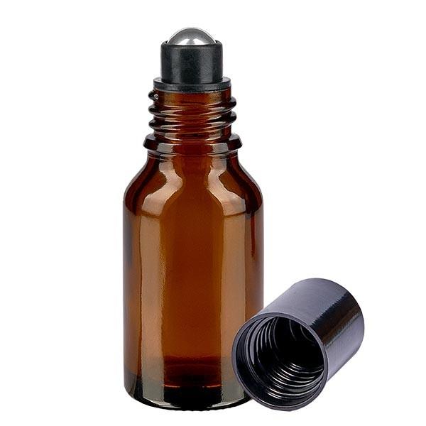 Glas deostick fles bruin 15ml, lege deo roller (Roll On)