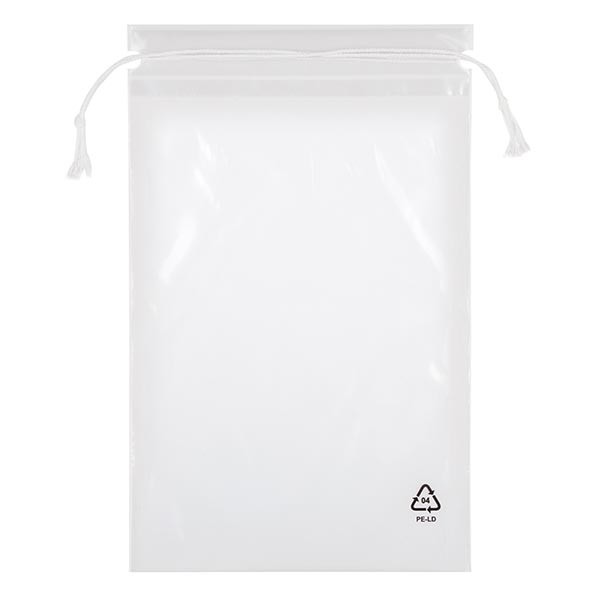 100 LDPE-zakken met sluitkoord, 150 x 210 (240 koord)