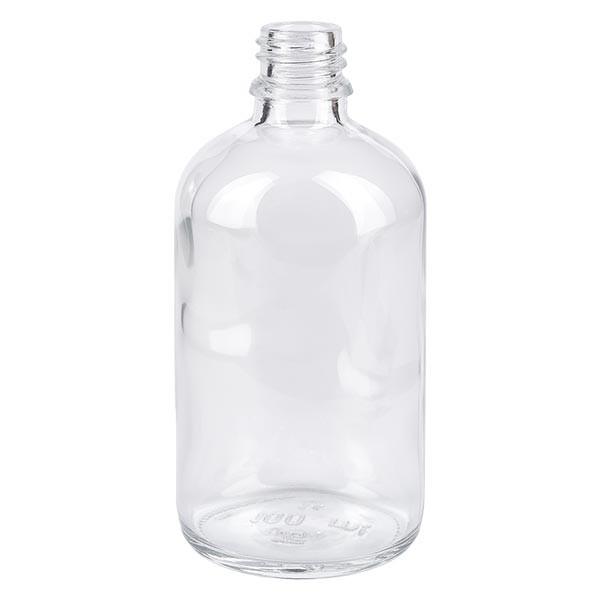 Helder glazen fles 100ml