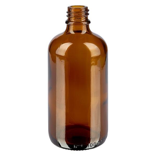 Bruine glazen fles 100ml