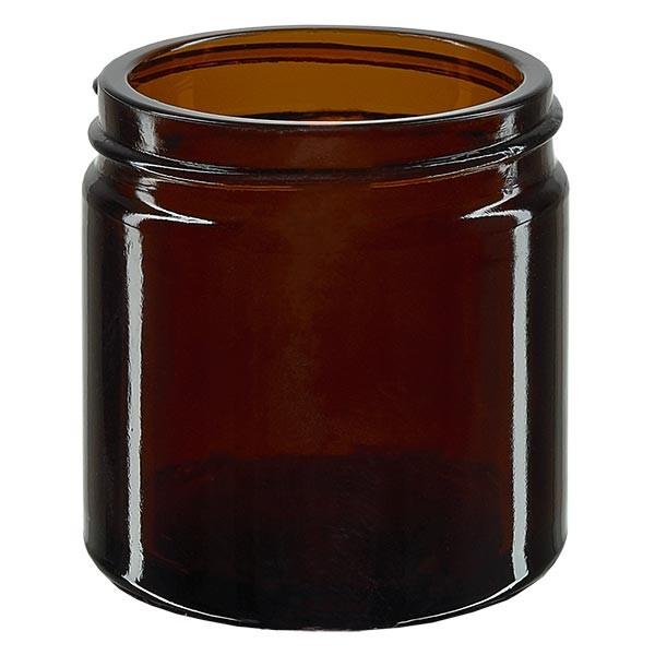 Glazen pot 60ml bruin glas 51mm/R3, zonder sluiting