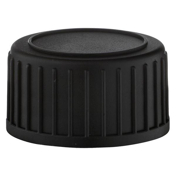 Schroefsluiting DIN 22 zwart van PP met EPE-afdichtplaatje