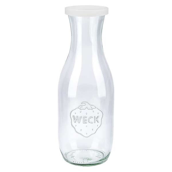 WECK-sapfles 1062ml met wit siliconenhoes