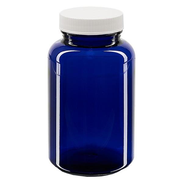 Petpacker 250ml kobaltblauw opening 45mm incl. SFYP verzegelend deksel