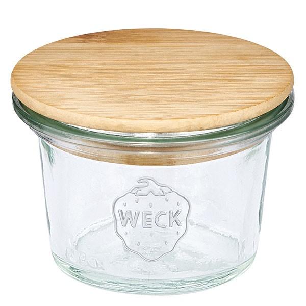 WECK-mini stortglas 35ml met hout deksel