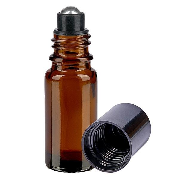 Glas deostick fles bruin 10ml, lege deo roller (Roll On)