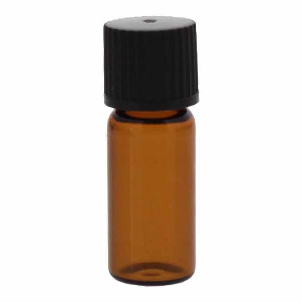Flessen met schroefdraad bruin 1,5 - 2 ml, 11,6 x 32 mm incl. sluiting 136 zwart met binnenconus