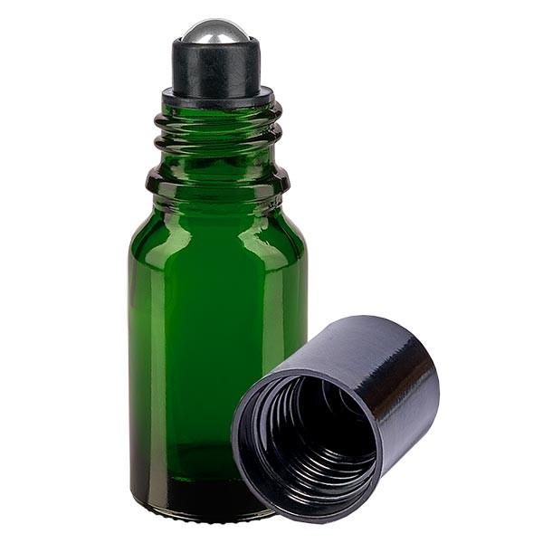 Glas deostick fles groen 10ml, lege deo roller (Roll On)