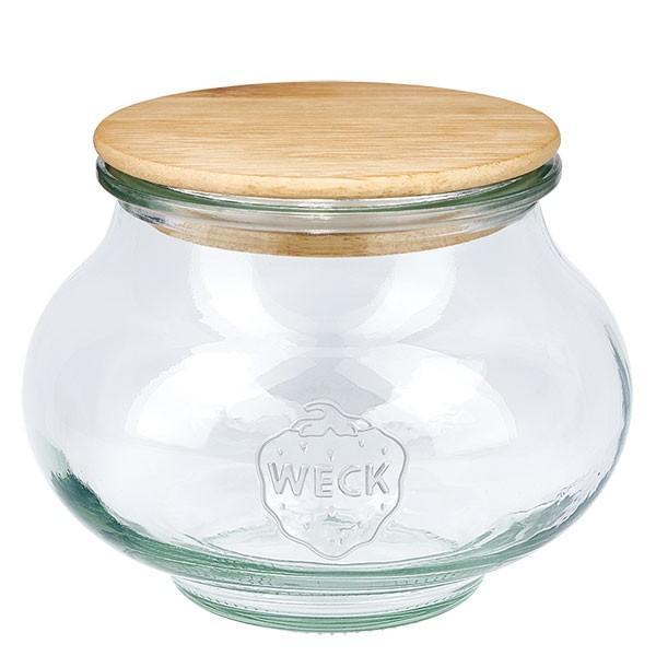WECK-sierglas 560ml met hout deksel