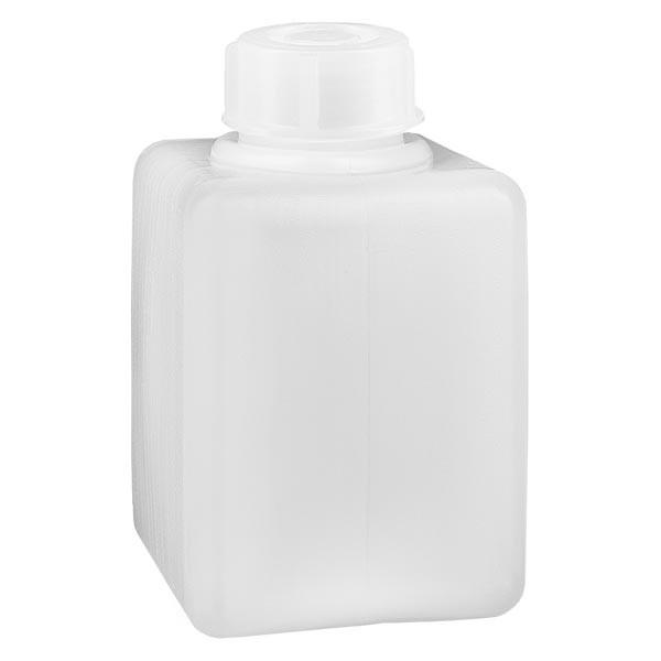 Chemicaliënfles 100 ml, nauwe hals, incl. sluiting GL 25