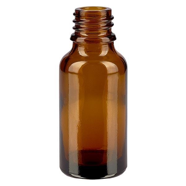 Bruine glazen fles 20ml