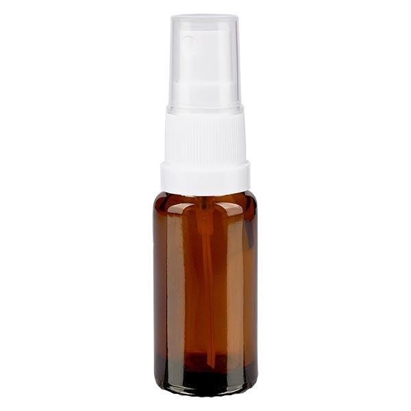 Bruin glazen flessen 10ml met wit pompverstuiver