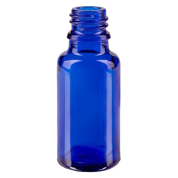 Blauwe glazen fles 20ml