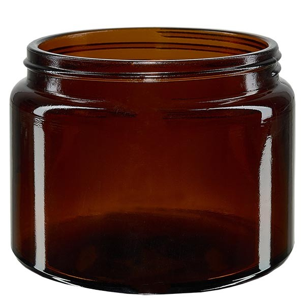 Glazen pot 500ml bruin glas 100mm/R3, zonder sluiting