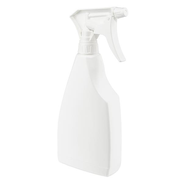 Sprayfles vlakke vorm PP, 500ml inclusief handsproeier