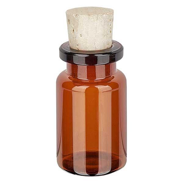 Injectiefles bruin glas 5ml met kurk 11/14mm
