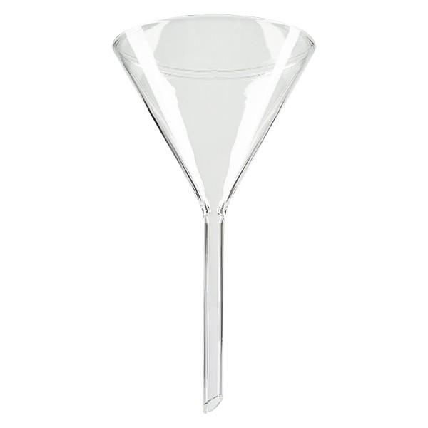 Glazen trechter Ø 100mm - kalk-soda-glas - 60° hoek