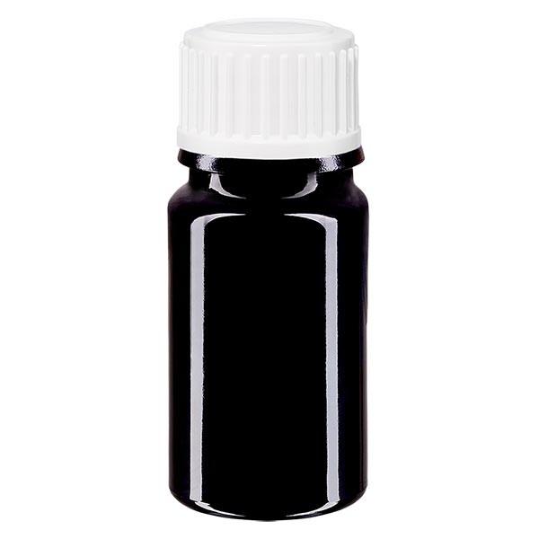 Violetglas fles 5ml DIN 18 wit druppelsluiting 0.8mm St