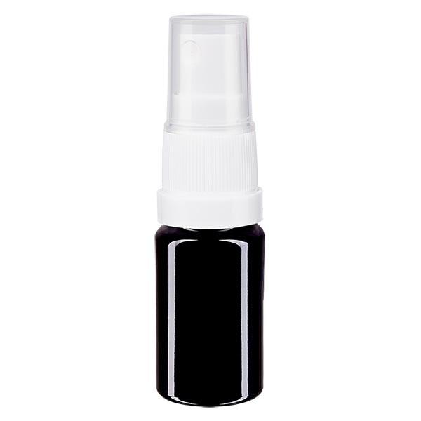 Fles violet glas 5 ml met pompverstuiver wit