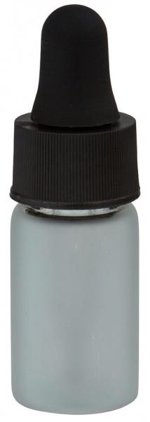 Mini pipetfles 3ml mat, schroefdraad M13 met druppelpipet PL28 zwart/zwart