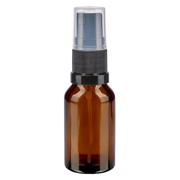 Bruin glazen flessen 30ml met zwart pompverstuiver