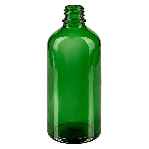 Groene glazen fles 100ml