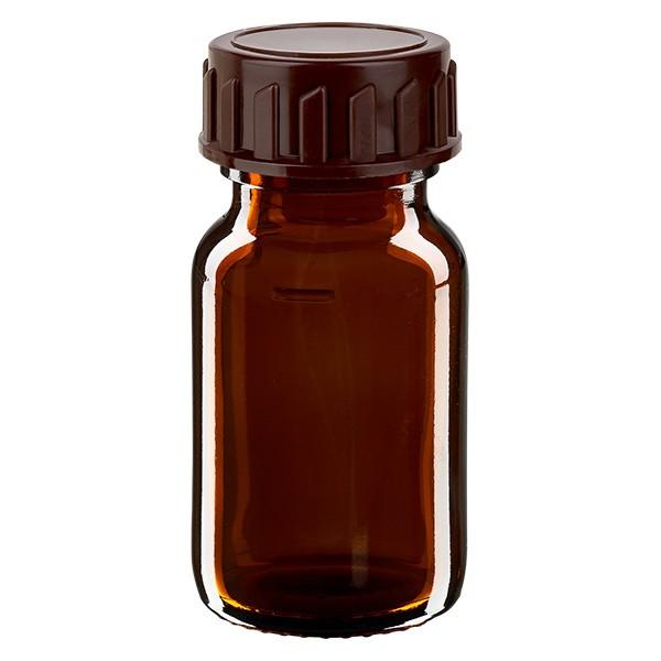 30ml Euro-medicijnfles bruin met bruine schroefsluiting