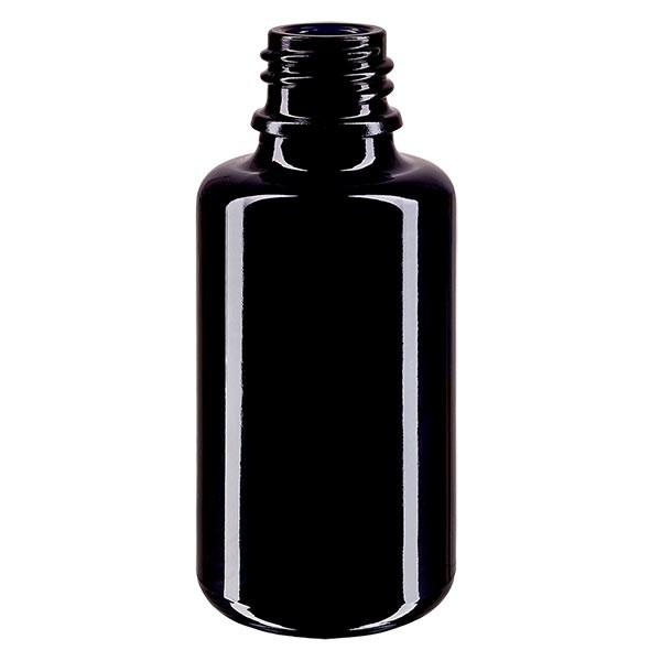 Violetglas fles 30ml DIN 18 (Mironglas)