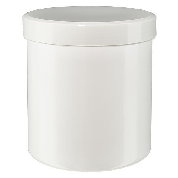 Zalfpot 20 g wit met schroefdeksel wit (PP)