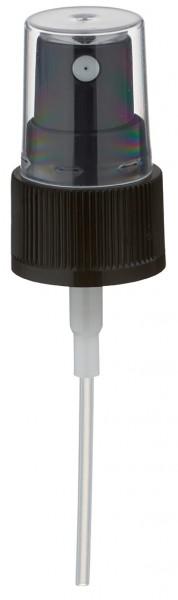 Pompverstuiver voor 30ml alu-fles zwart met beschermkap GCMI 20/410