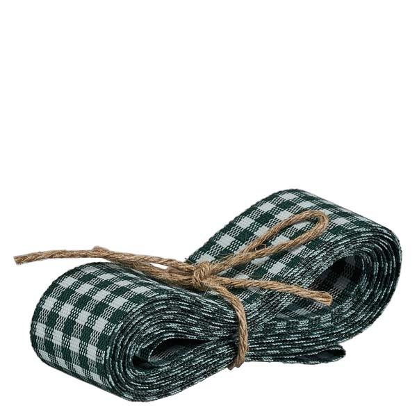 Stoffenband groen/wit 25mm breed - 3m lang - voor het decoreren van glazen