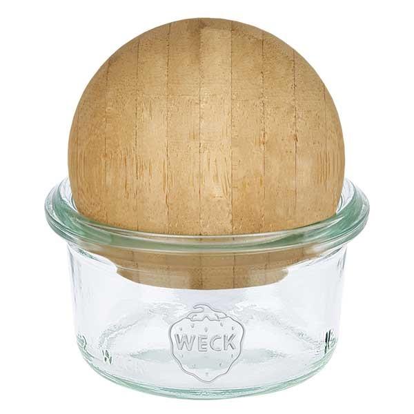 WECK-mini stortglas 50ml met houten bal