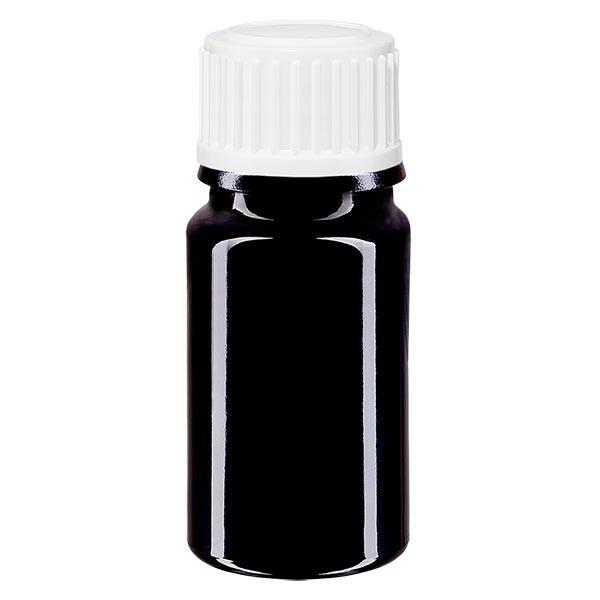 Violetglas fles 5ml DIN 18 met wit schroefsluiting