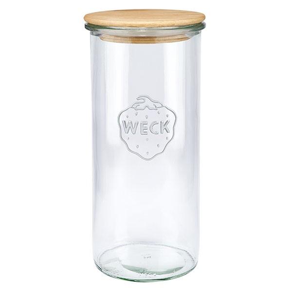 WECK-stortglas 1550ml met hout deksel