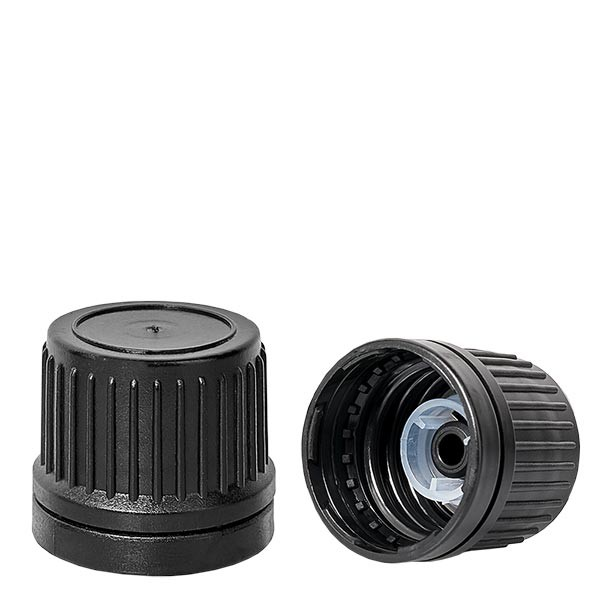 Schroefsluiting met uitgietring zwart 18 mm premium VR