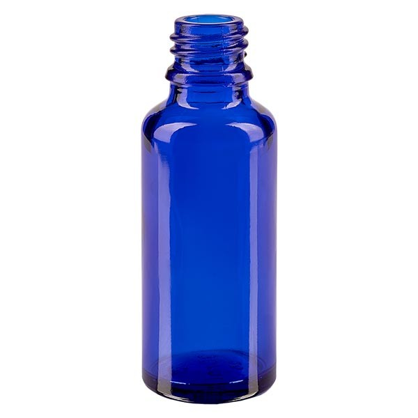 Blauwe glazen fles 30ml