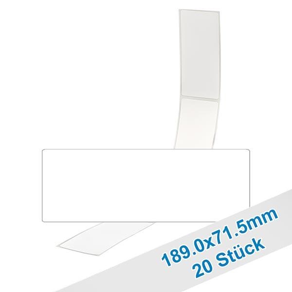 20 etiketten, wit, verwijderbaar 71.5x189mm