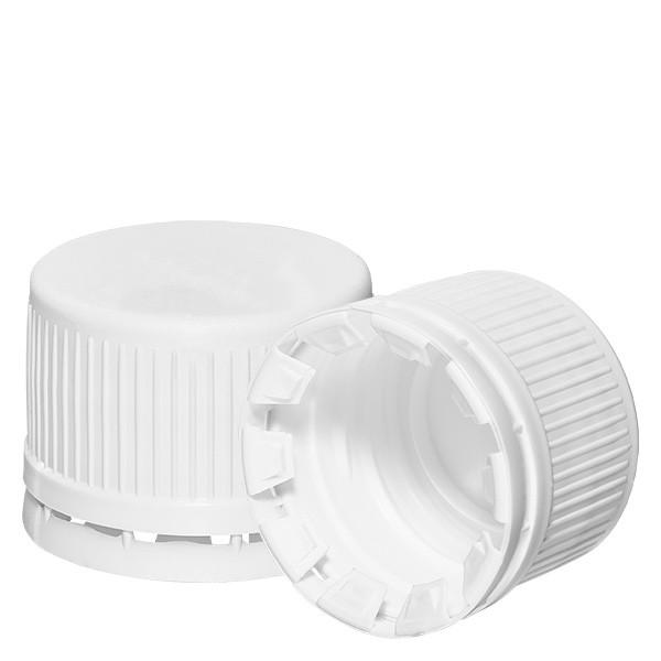 Schroefsluiting wit 28 mm met VR (voor EuroMed flessen)